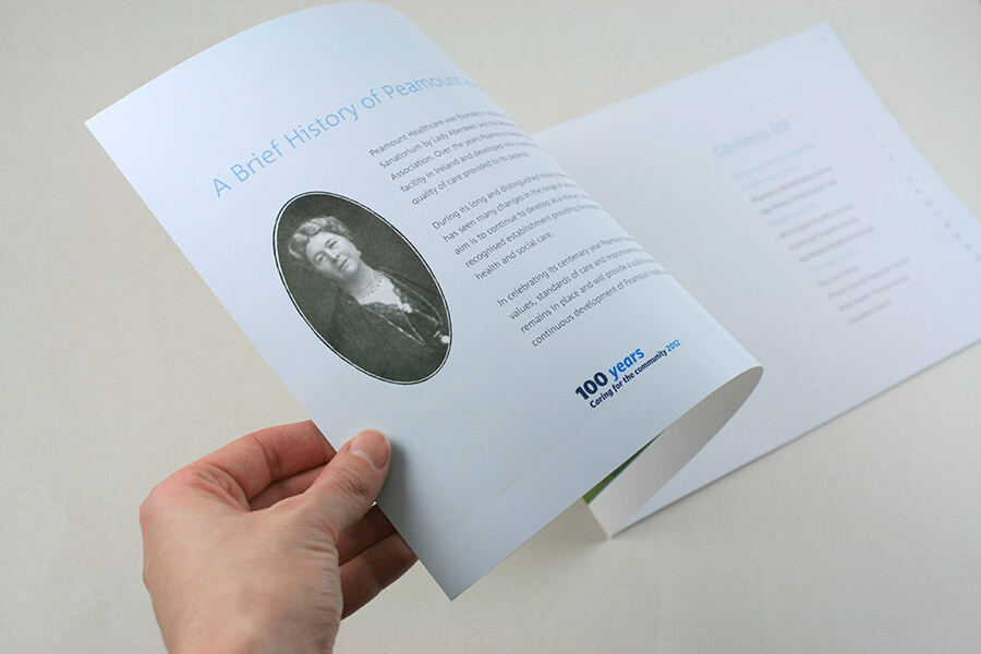 Brochure for Peaumont Healthcare, design by Aga Grandowicz / agrand.ie