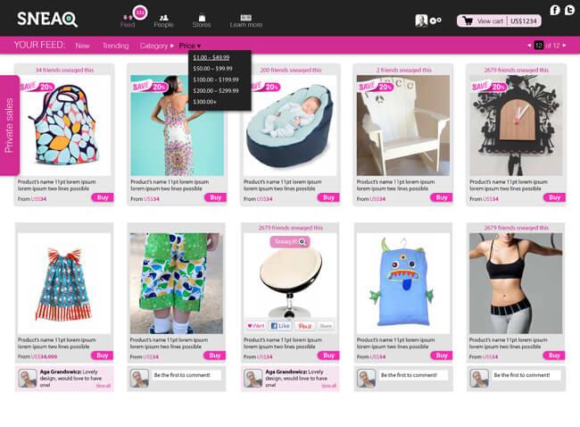 SNEAQ_website_shop items..