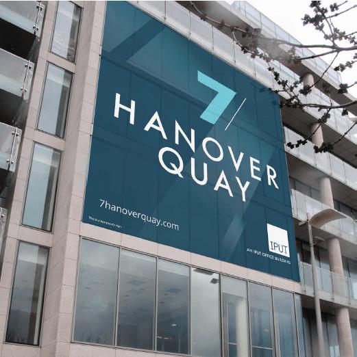 7 Hanover Quay – one of building wraps