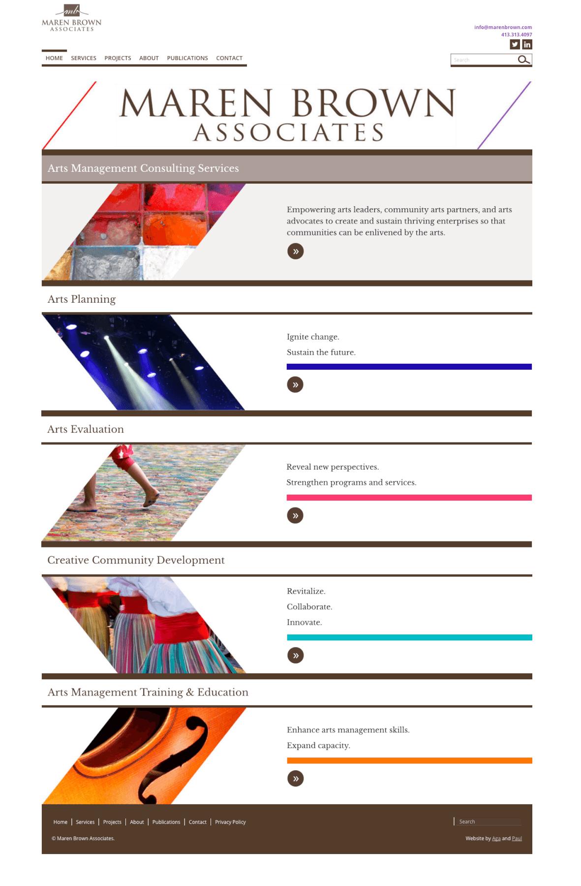 Website for Maren Brown Associates.