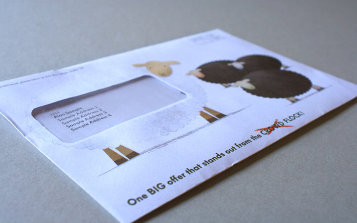 Direct mail for Volkswagen Bank Ireland