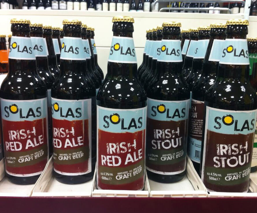 Solas beer, in Tesco.