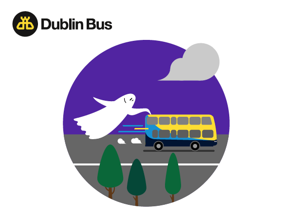 One of illustrations for Halloween email newsletter for Dublin Bus