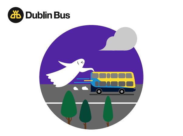 One of illustrations for Halloween email newsletter for Dublin Bus