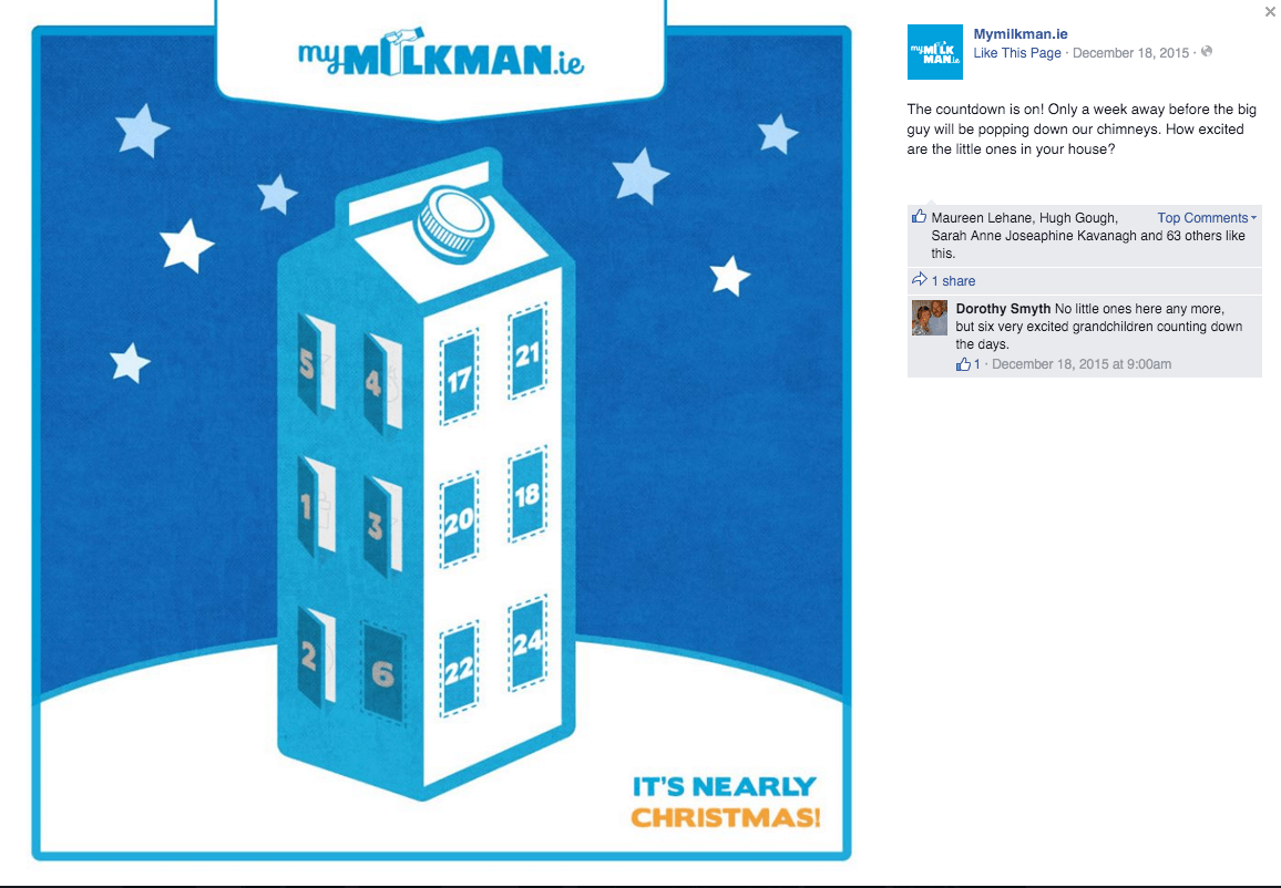 MyMilkman.ie - Advent Calendar