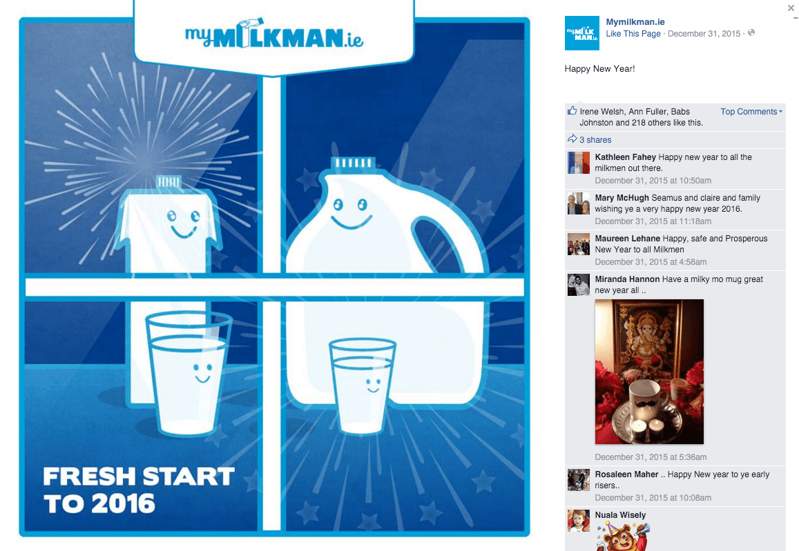 MyMilkman.ie – Happy New Year