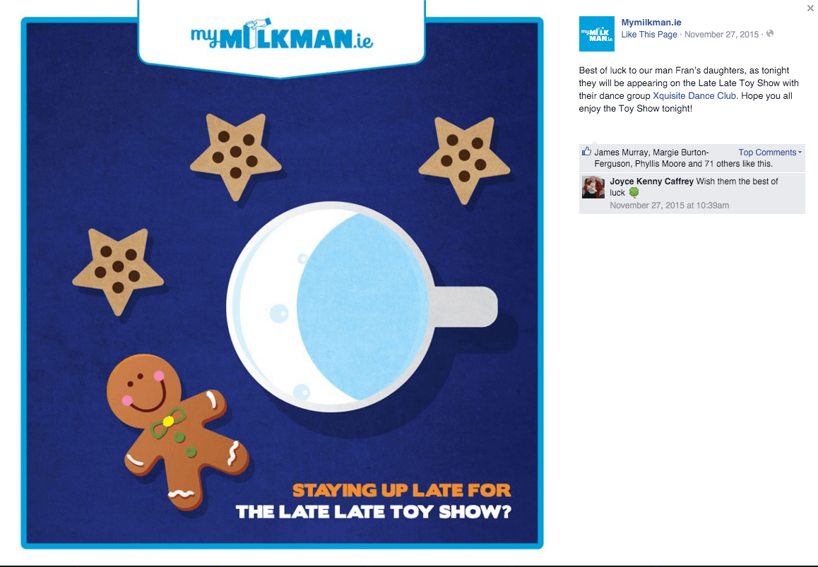 MyMilkman.ie – Late Late Toy Show.
