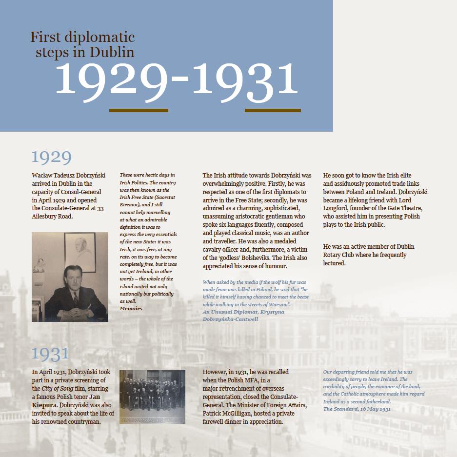 Historical exhibition panel design