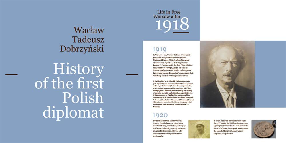 Historical exhibition brochure - sample spread