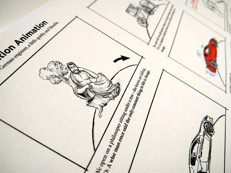 storyboard for Siemens.