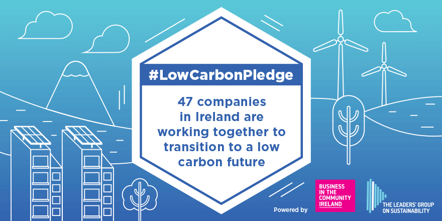 #LowCarbonPledge social media posts for BITC.ie