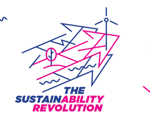 logo for a sustainability-related event – design by Aga Grandowicz