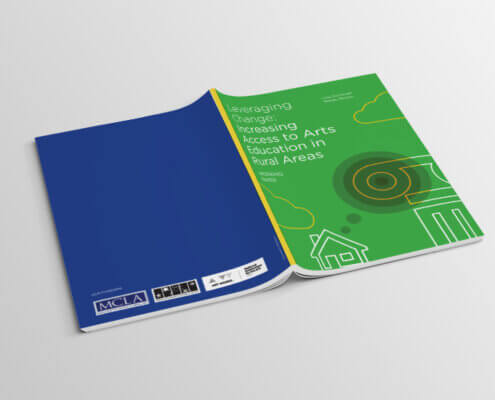 Leveraging change: Increasing Access to Arts Education in Rural Areas –booklet design by Aga Grandowicz/agrand.ie