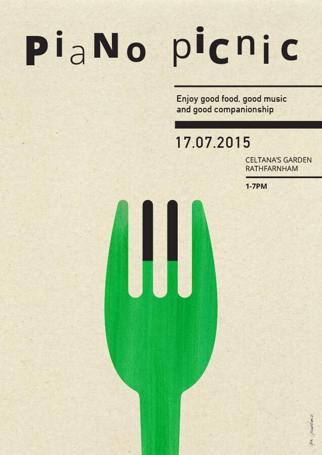 Piano Picnic 1 –poster design by Aga Grandowicz.
